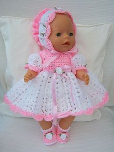 LOVELY CROCHET DRESS SET
