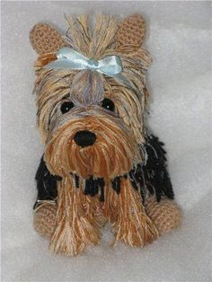 Crochet Adorable Amigurumi Stuffed Yorkie Dog with Free Pattern