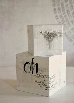 ✍ Sensual Calligraphy Scripts ✍ initials, typography styles and calligraphic art - boxes Mix Media, Brush Lettering, Hand Lettering, 3d Typography, Box Art, Art Boxes, Calligraphy Letters, Letter Art, Mark Making