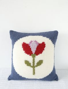 Retro Tulip Cushion Crochet Pattern