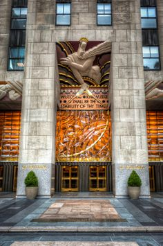 Rockefeller Center Wisdom (Art Deco) by W. Brian Duncan