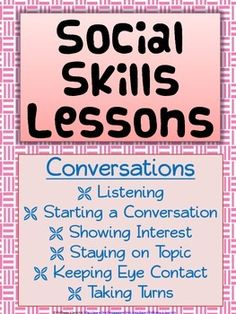 The following document is 33 pages, with 12 social skill lessons. Teaching social skills is extremely important for all children to be successful in and out of school. These lessons are also particularly helpful for students with autism and other disabilities.