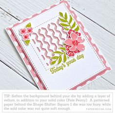 Soften Background Tip Card Making Tutorials, Card Making Techniques, Birthday Thank You, Happy Birthday, Egg Card, Spring Color Palette, Damasks, Mixed Media Cards, Miss You Cards