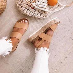 Plain Peep Toe Casual Date Wedge Sandals Women's Espadrilles, Espadrille Sandals, Wedge Sandals, Summer Sandals, Black Platform Sandals, Summer Shoes, Summer Outfits, Heeled Sandals, Black Shoes
