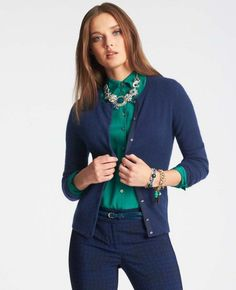 Building Your Fall Wardrobe {cardigan} in navy, black and grey
