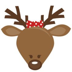 Cute Girl Reindeer Head: Miss Kate Cuttables SVG cutting files for scrapbooking cute cut files christmas svg cut files free svgs