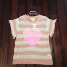 NWT Wildfox sequin heart sweater White & pink sweater with hot pink sequined heart! Never worn! Tags still attached. 100% authentic--Wildfox Wildfox Sweaters Crew & Scoop Necks