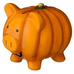 Halloween Piggy Bank - Pumpkin review at Kaboodle - Ceramic.  This is where to put Halloween savings for next year.