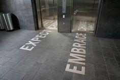 elevator graphics - expect change/embrace change