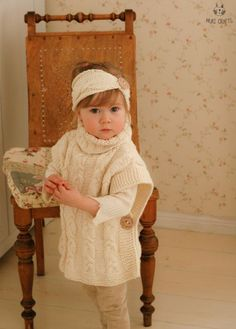 This is knitting pattern for SET of two items: poncho Robyn and headband with braided cables. The poncho is one-piece knitted with medium weight yarn. Perfect poncho for a little boy or girl, add a matching headband when making for a girl. The poncho pattern includes a chart for knitting