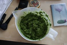 pesto from wild garlic!  vegan, raw.