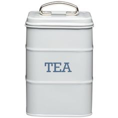 Living Nostalgia Tea Canister, 11X17Cm ($11) ❤ liked on Polyvore featuring home, kitchen & dining, food storage containers, sugar canister, tea canisters, tea cannister and square food storage containers