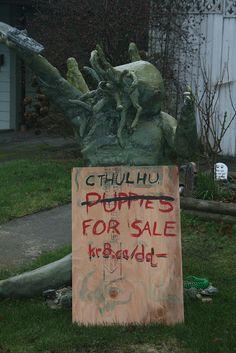 Cthulhu Sculpture needs a new home.