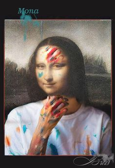 Brus© Mona Friends, La Madone, Mona Lisa Smile, Artist, Walls, Anime, Pictures, Study, Inspire