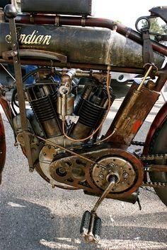 rat rod Indian motorcycle