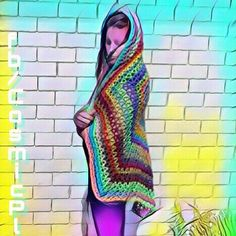 #floweroflife #Sacredgeometry #DMT #UV #rainbow #crochet #throw #Shaman #handmade #cosmicplanet9 Absolutely Stunning! This beautyful rainbow lightweight throw has been designed and hand made by myself, featuring the Flower of Life motif that weaves itself throughout my crochet work. It is made with Moda Vera Bouvardia,