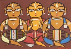 Jamini Roy IGNCA His name means beautiful relaxing night. And his beautiful paintings somehow lives up to meaning of his. Phad Painting, Worli Painting, Fabric Painting, Painting Patterns, Modern Indian Art, Indian Folk Art, Indian Artist, Modern Art, Contemporary