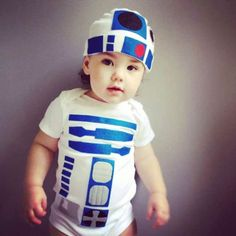 Baby Costume - Star Wars Baby Clothes from TheWishingElephant on Etsy. Best Toddler Halloween Costumes, Toddler Costumes, Baby Costumes, Halloween Kids, Costume Halloween, Children Costumes, Halloween Stuff, Halloween Crafts, R2d2 Costume