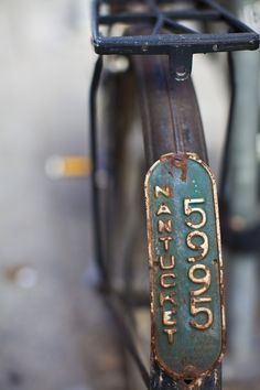 Old Nantucket Bike Plate ...