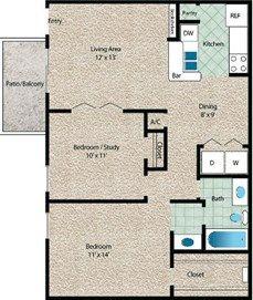 La Costa Floor Plan at The El Dorado View Apartments in Webster, TX