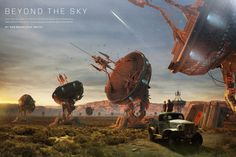 Beyond The Sky illustration by Khomatech for Playboy Magazine USA, July 2012 issue