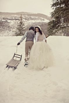 Tulle in snow!!  Crazy romantic [more at pinterest.com/eventsbygab]