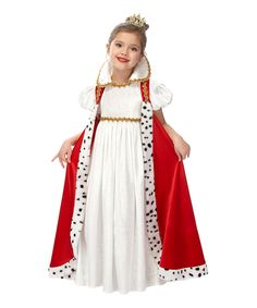 Red & Gold Empress Dress-Up Set - Girls | Daily deals for moms, babies and kids