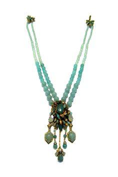 Erickson Beamon - multistrand, beads, gemstone cluster