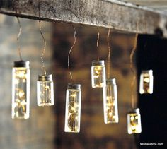 These Roost Firefly Bottle Lights add a soft and welcoming ambiance to any party or gathering. Warm LED lights sparkle like magical fireflies trapped in diminutive glass bottles. Led Bottle Light, Bottle Lights, Jar Lights, String Lights, Modern Lighting, Outdoor Lighting, Lighting Ideas, House Lighting, Fireflies In A Jar