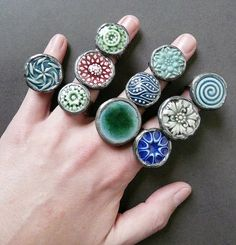 The Rabbitmuse, porcelain rings