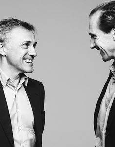 Christoph Waltz and Ralph Fiennes, photographed by Ben Hassett for Variety, Dec 2, 2014.