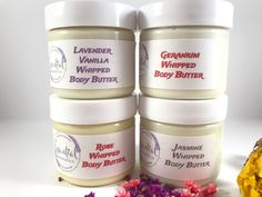Exotic Jasmine with Lemongrass, sweet floral Geranium, relaxing and soothing Lavender Vanilla and the ever fragrant Rose. That is what you get in my 2oz Mini Set and today you also get a free gift. Don't miss out and visit my shop today.