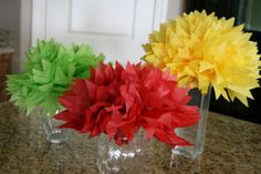 A Little Great: A Little Party Idea... Pom Pom Centerpieces