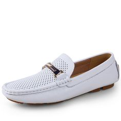 >> Click to Buy << Men Loafers 2017 Casual Boat Shoes Fashion Genuine Leather Slip On Driving Shoes Moccasins Hollow Out Men Flats Gommino size 46 #Affiliate
