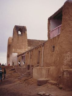 Acoma Pueblo, Acoma, NM | Known as Sky City, this 70-acre ancient city is located 7,000 feet above sea level on a sandstone mesa, 60 miles west of Albuquerque, New Mexico. Continuously inhabited since the late 1300s, Acoma Pueblo is one of the oldest urban settlements the U.S. https://tclf.org/landscapes/acoma-pueblo