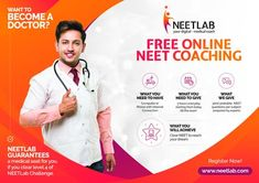 Free online neet coaching for indian students to clear NEET exam. NEET exam is compulsory for getting admission to medical universities in India and abroad.