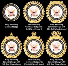 Navy Recruiting Command Badges