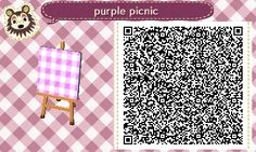 Purple Picnic Cloth -->Tile#1 of 2 <--