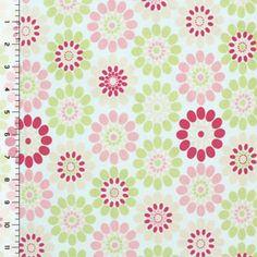 Serendipity Floral Circles Cotton Lycra Knit Fabric