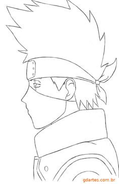 Anime Drawings Sketches, Naruto Drawings, Cartoon Drawings, Cute Drawings, Naruto Sketch, Anime Sketch, Anime Naruto, Kakashi Tattoo, Goku Drawing