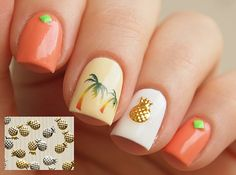 20 pcs of gold or silver pineapple nail by LaPalomaBoutique