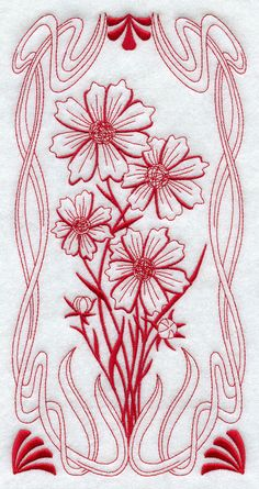 BLOOMING Art Nouveau  COSMOS Machine by AzEmbroideryBarn on Etsy, $12.95