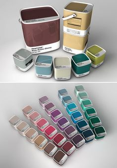 Pantone Paint. Even just the little sample tins are cool to reuse!