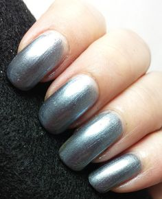 This is a gorgeous steel colored metallic polish.I have on two coats with a top coat.Great night on the town polish :)