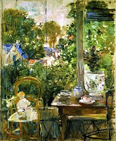Doll on a Porch, 1884 - Berthe Morisot (French, Impressionism Pierre Auguste Renoir, Edouard Manet, French Impressionist Painters, Impressionist Artists, A4 Poster, Poster Prints, Berthe Morisot, Mary Cassatt, Post Impressionism