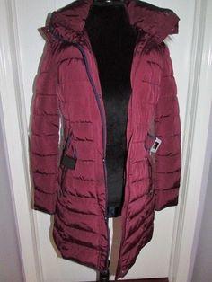 Women's Tommy Hilfiger Red Parka Coat With Faux Fur Trim Hood New Small  #TommyHilfiger #Parka #coat #jacket #redcoat #dandeepop Find me at dandeepop.com