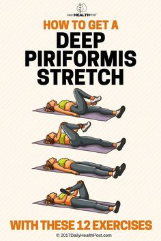 Following are some piriformis stretches you can do to give this often-overlooked muscle some attention