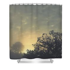 Daybreak Shower Curtain by Sverre Andreas Fekjan. This shower curtain is made from polyester fabric and includes 12 holes at the top of the curtain for simple hanging. The total dimensions of the shower curtain are wide x tall. Curtains For Sale, Shower Curtains, Tapestry, Bathroom, Simple, Fabric, Design, Home Decor, Hanging Tapestry