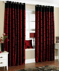 Unique Curtain Designs For Living Room Window Decorations Voile Curtains Bedroom Red