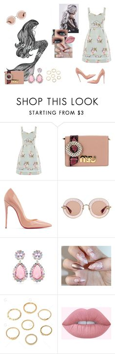 """Pray #SamSmith"" by diane-ds ❤ liked on Polyvore featuring Suarez, Oasis, Miu Miu, Christian Louboutin, Gucci and Lime Crime"